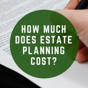 estate planning cost