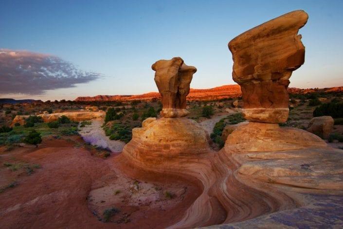 canyon in utah sky sunset